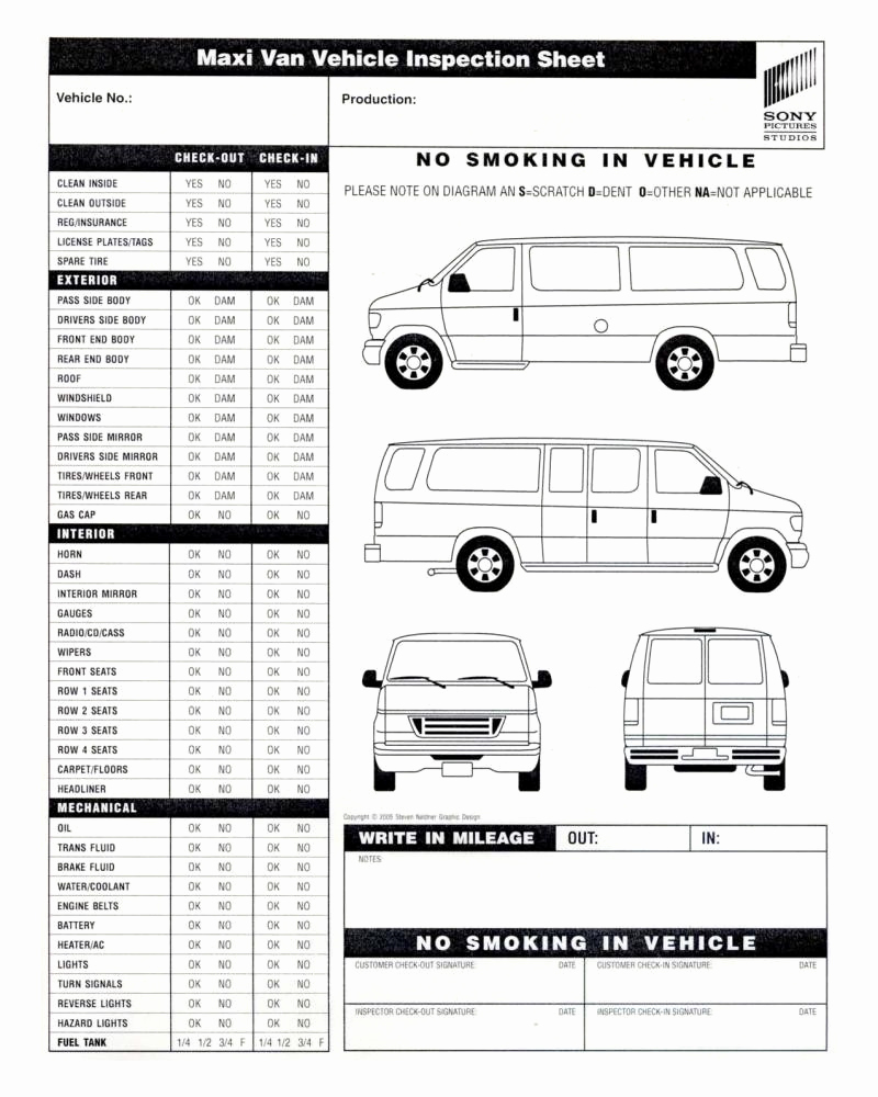 Free Printable Vehicle Inspection form Luxury Vehicle Inspection form Template