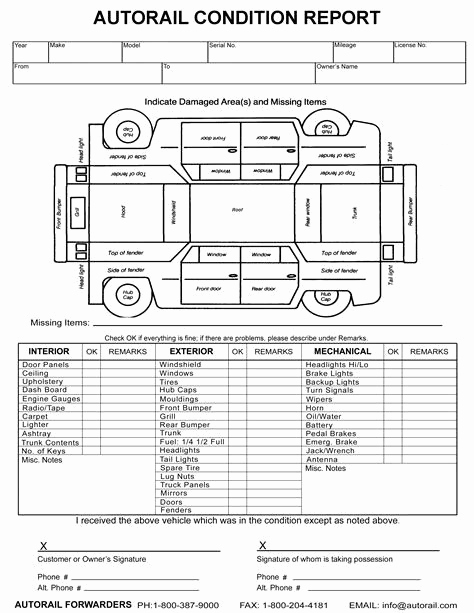 Free Printable Vehicle Inspection form New Image Result for Vehicle Damage Inspection form Template