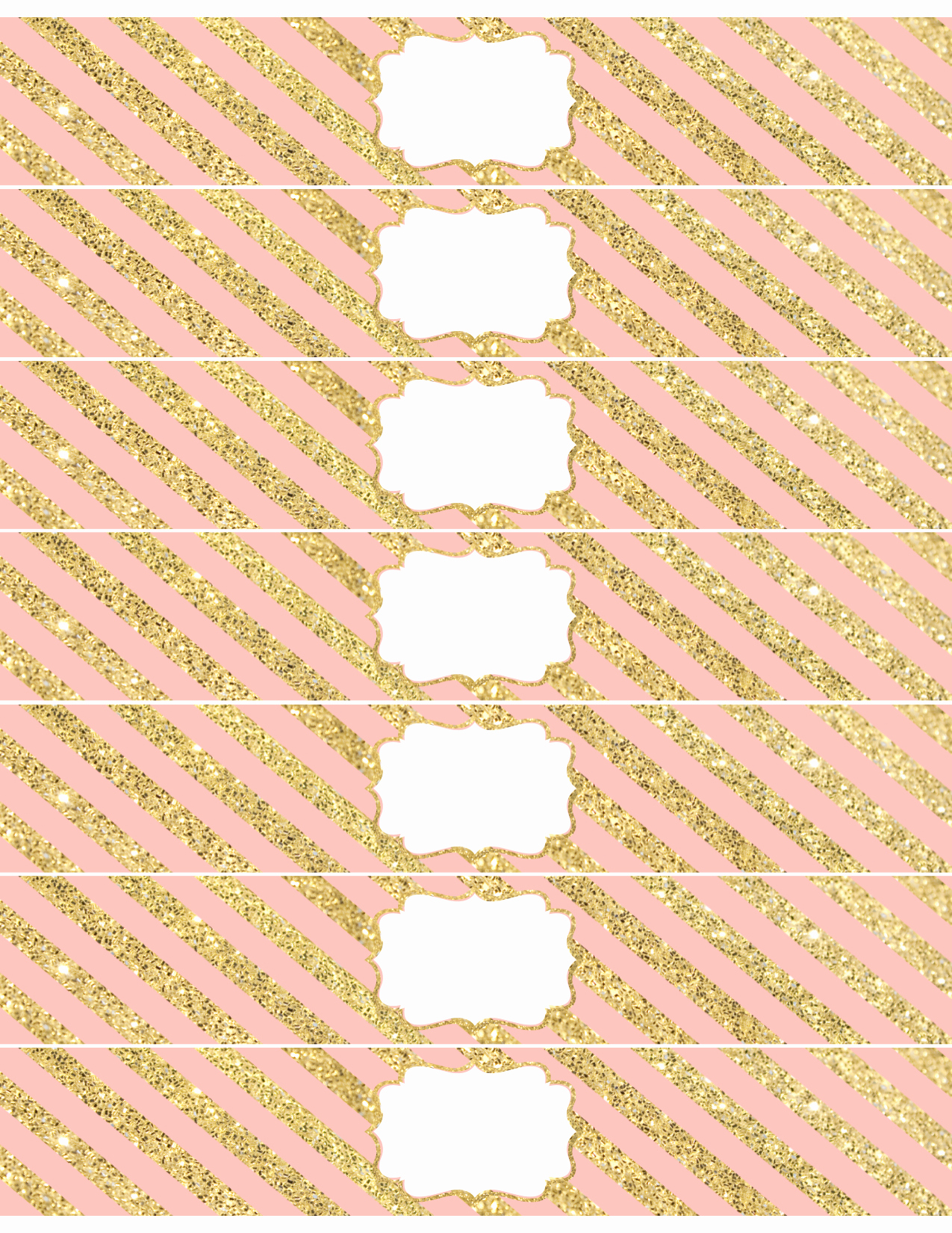 Free Printable Water Bottle Labels Awesome Pink and Gold Water Bottle Wrappers Free Printable Paper