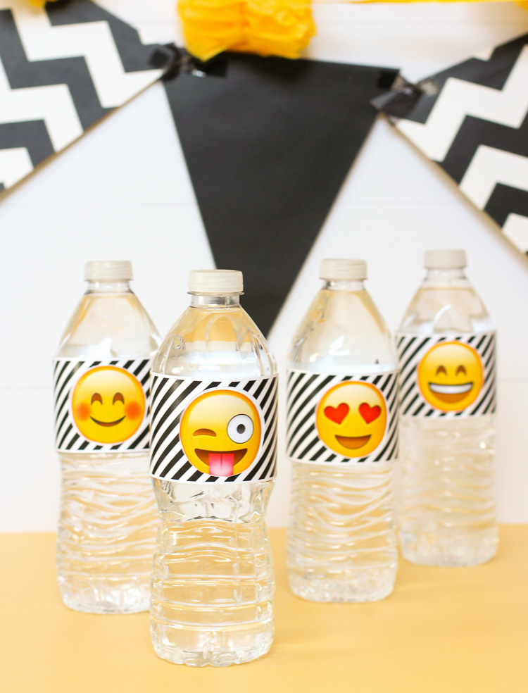 Free Printable Water Bottle Labels Elegant the Craft Patch Emoji Party Water Bottle Labels