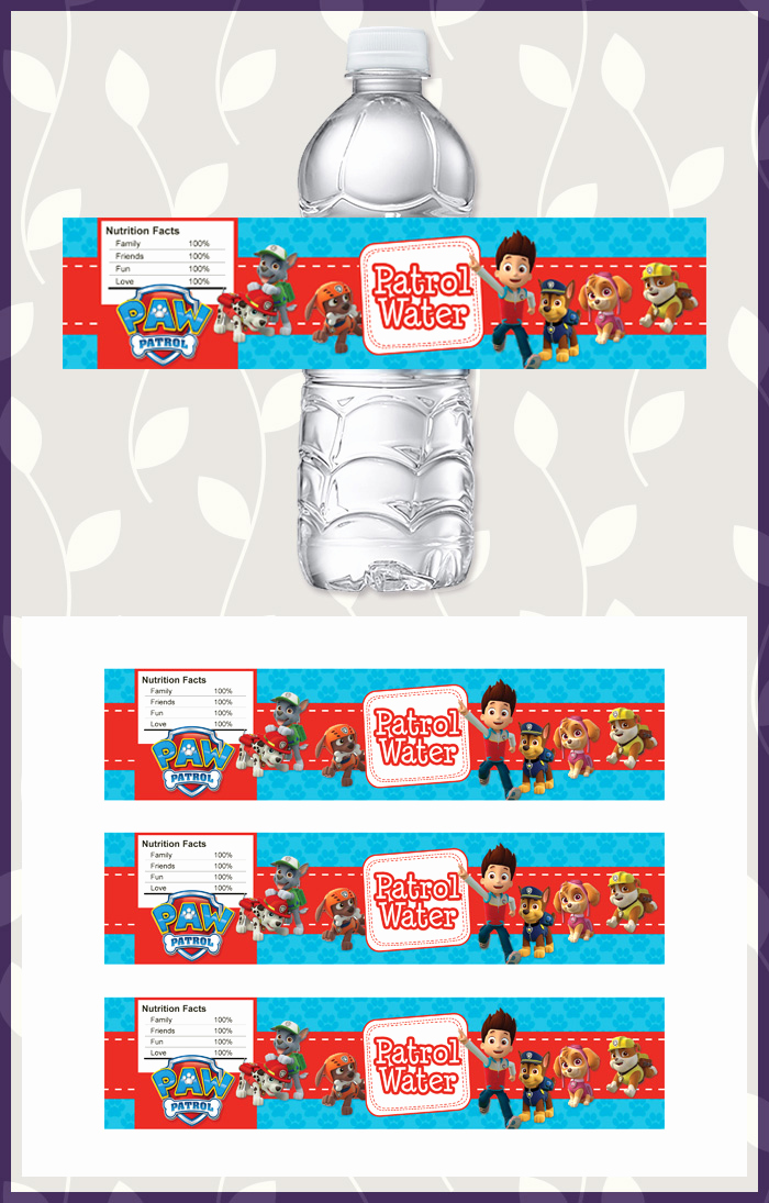 Free Printable Water Bottle Labels Fresh Free Printable Paw Patrol Water Bottle Labels