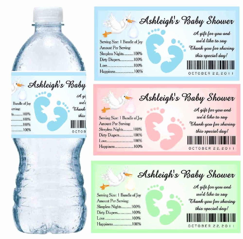 Free Printable Water Bottle Labels Inspirational 30 Baby Shower Water Bottle Labels Glossy Waterproof