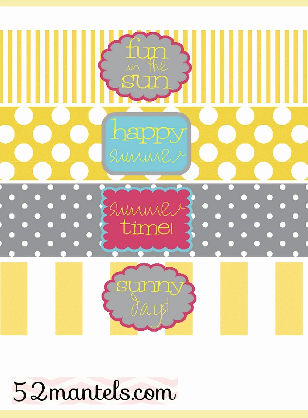 Free Printable Water Bottle Labels Lovely 52 Mantels Diy Water Bottle Labels Plus A Free Printable