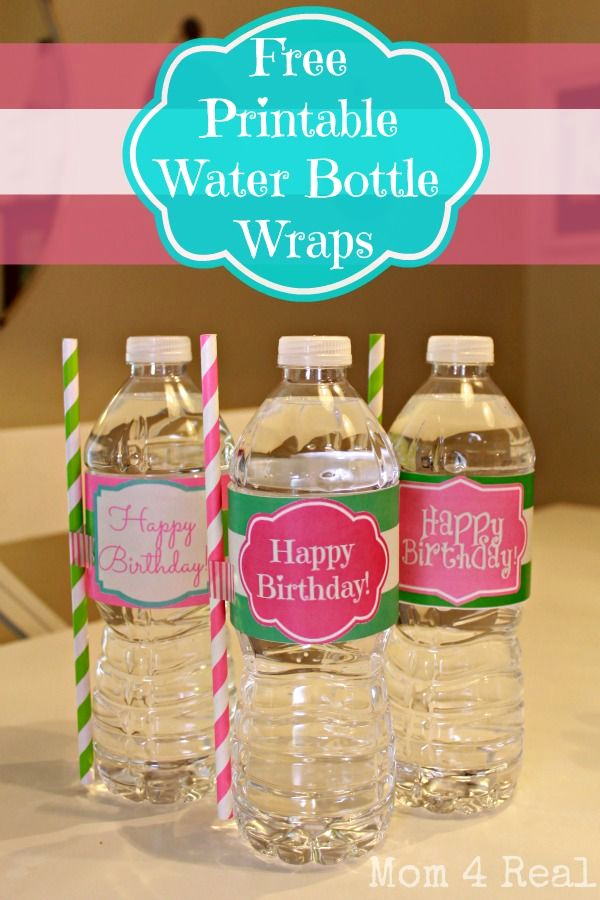 Free Printable Water Bottle Labels Lovely Free Printable Happy Birthday Water Bottle Label Wraps