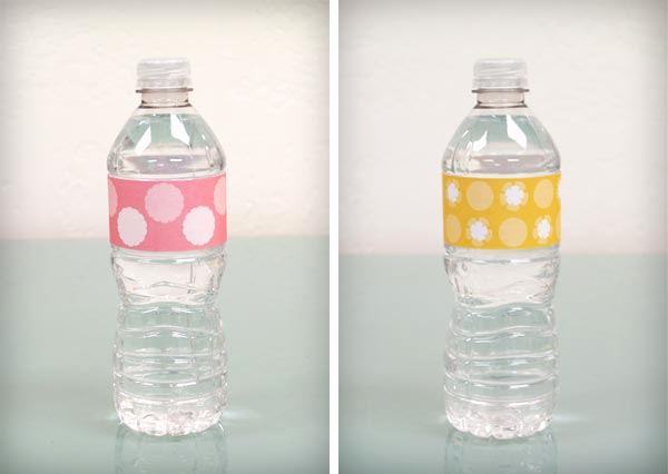 Free Printable Water Bottle Labels New Bump Smitten Diy Shower Water Bottle Labels Free Download