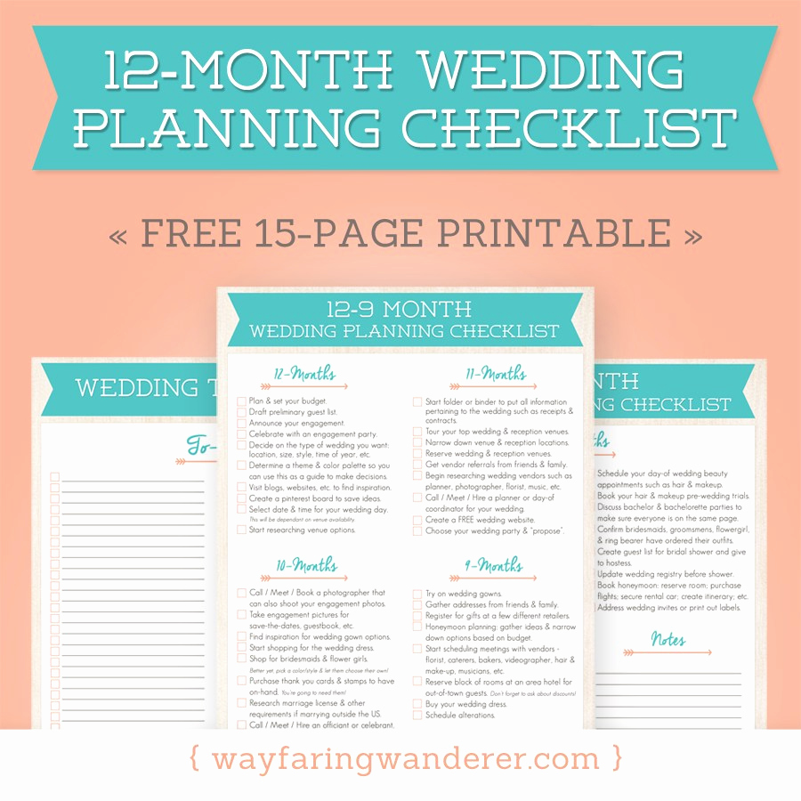 Free Printable Wedding Checklist Awesome Wayfaring Wanderer Boone Nc Grapher Wedding Planning