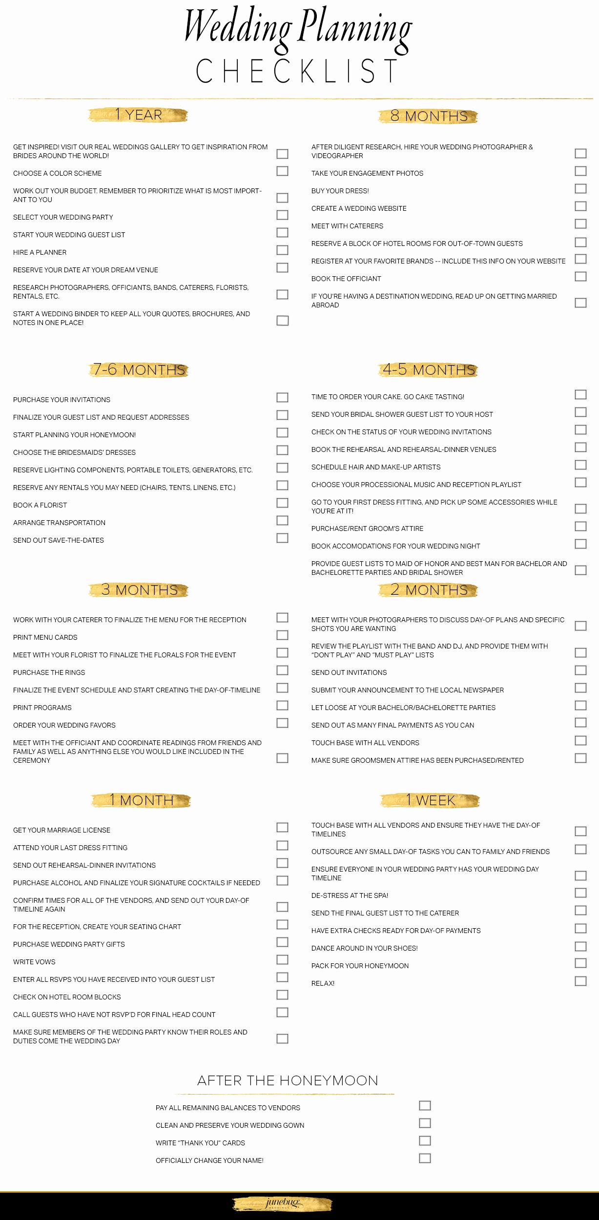 Free Printable Wedding Checklist Fresh Wedding Planning Checklist