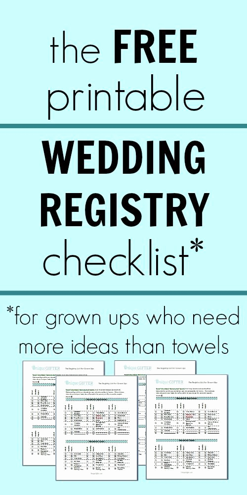 Free Printable Wedding Checklist Luxury Free Printable Wedding Registry Checklist