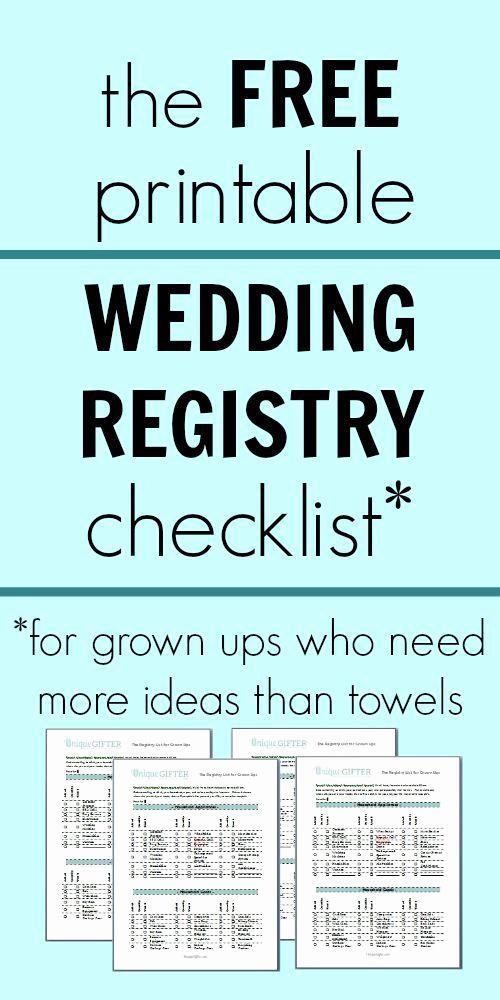 Free Printable Wedding Checklist Luxury Free Printable Wedding Registry Checklist