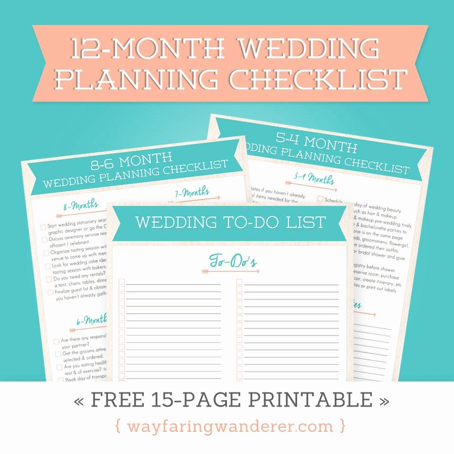 Free Printable Wedding Checklist New Wedding Planning Checklist
