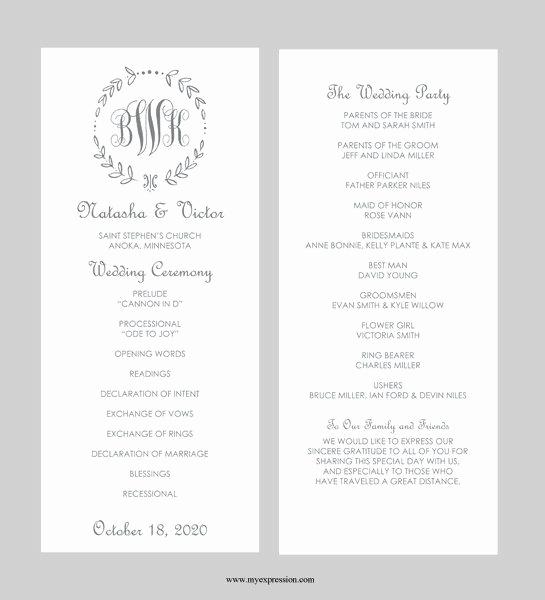 Free Printable Wedding Program Templates Beautiful Best 25 Wedding Program Templates Ideas On Pinterest