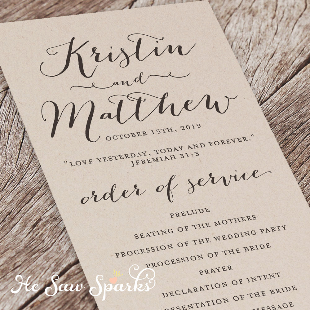 Free Printable Wedding Program Templates Elegant Printable Wedding Program Eternity