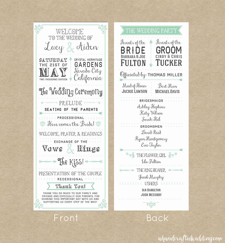 Free Printable Wedding Program Templates New Free Printable Wedding Invitation Template