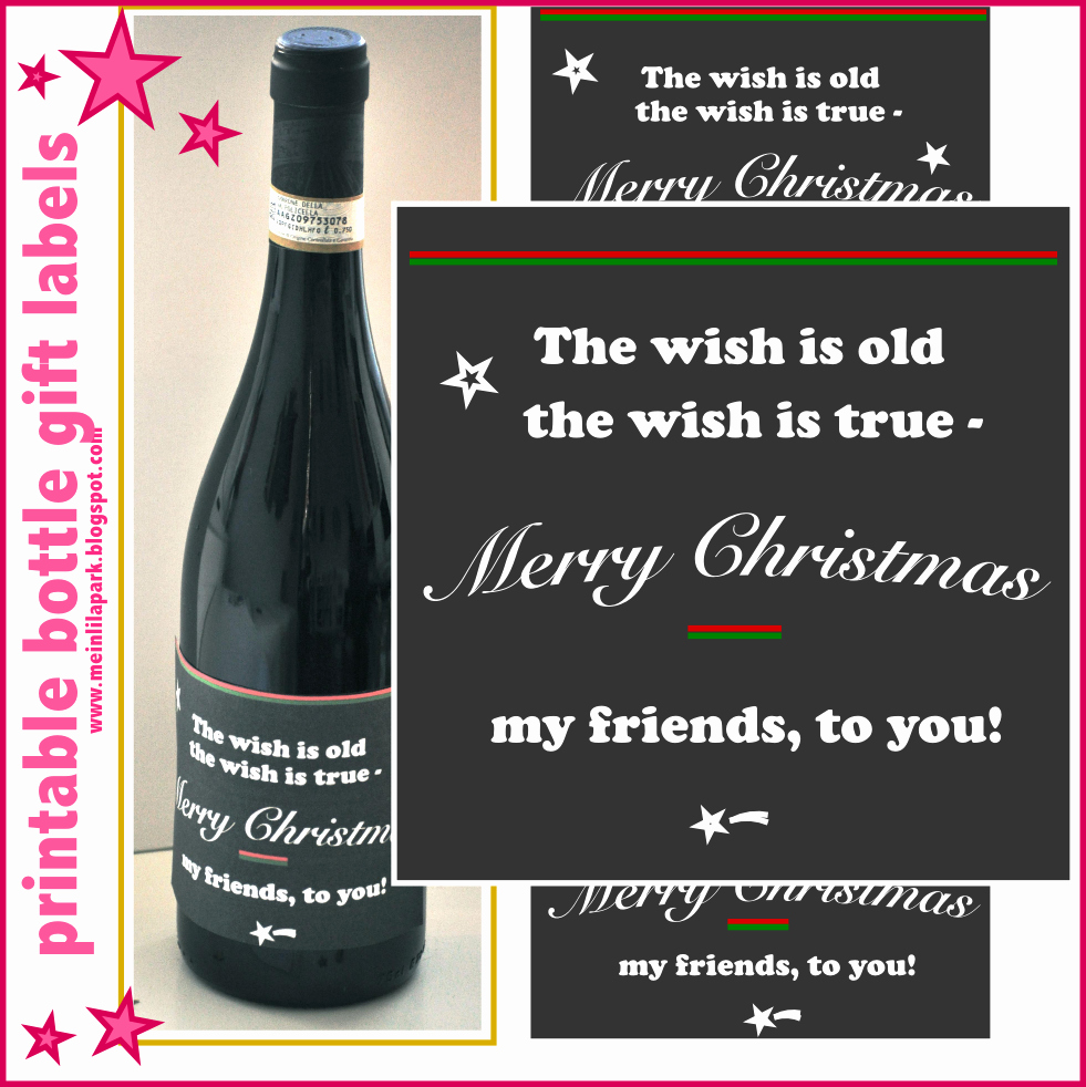 Free Printable Wine Labels Awesome Free Printable Christmas Wine Bottle Labels