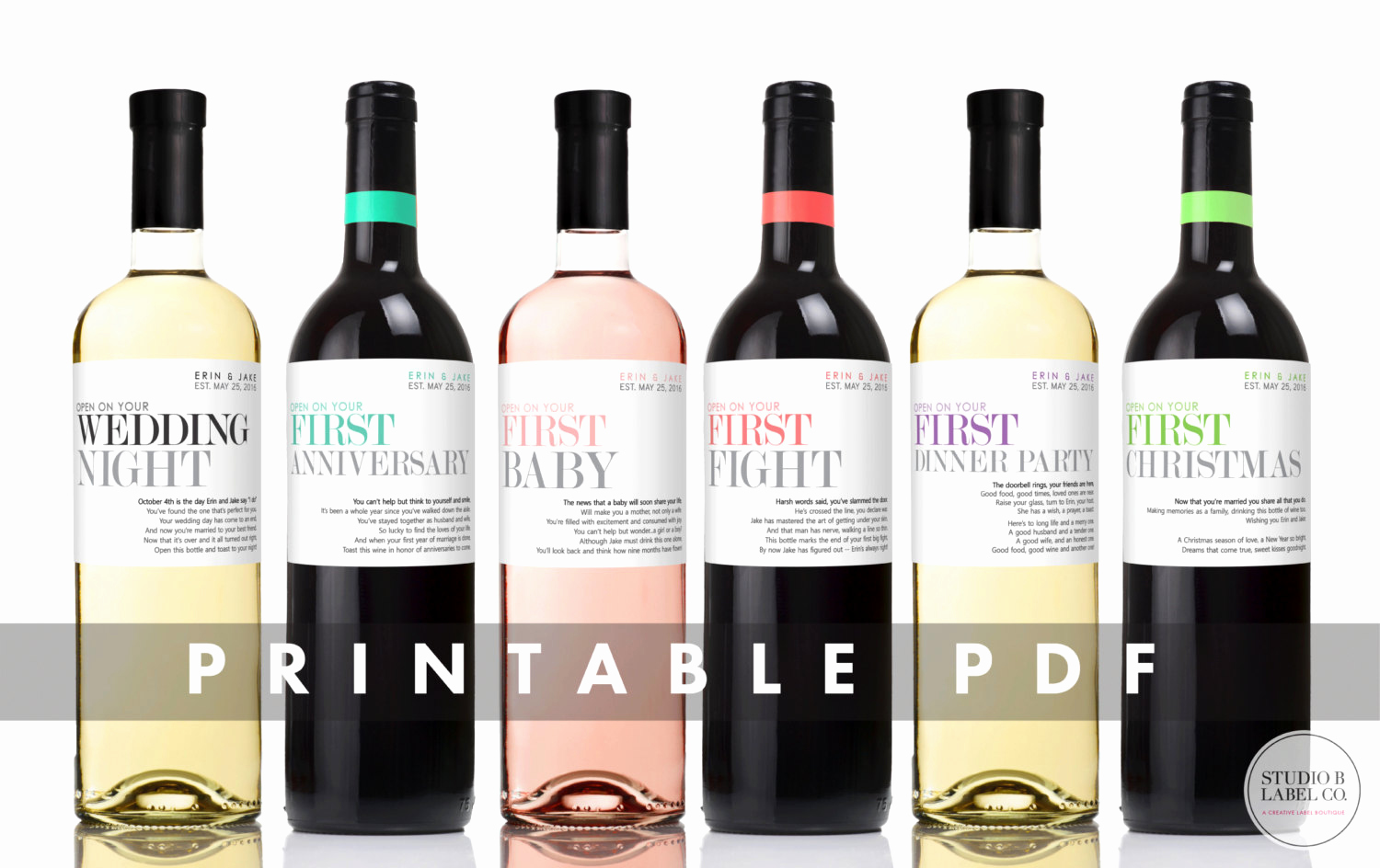 Free Printable Wine Labels Awesome Printable Wedding Wine Labels Milestone Stickers Unique