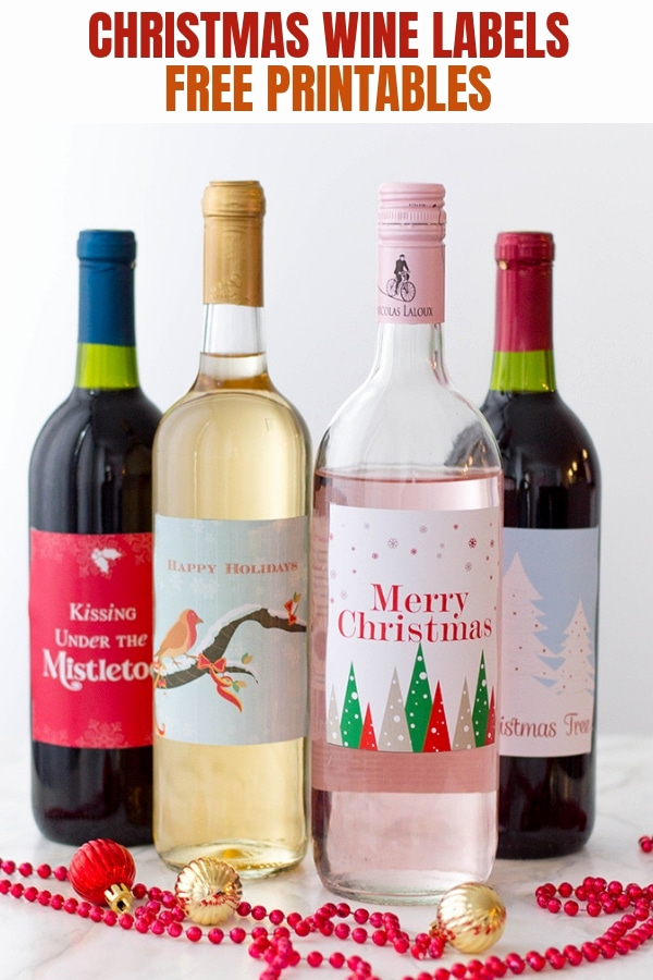 Free Printable Wine Labels Beautiful Holiday Wine Labels Free Printables Ion Rings & Things