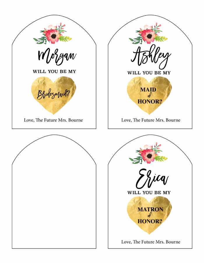 Free Printable Wine Labels Beautiful Print Will You Be My Bridesmaid Free Printable Wine Labels