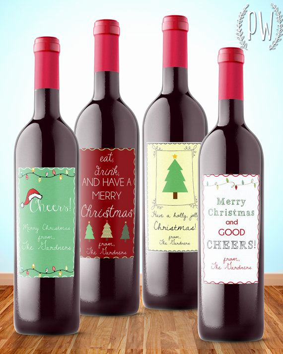 Free Printable Wine Labels Best Of Christmas Wine Label Printable T Sticker by