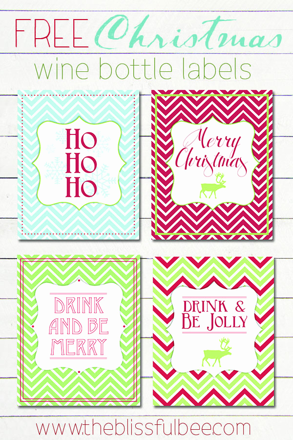 Free Printable Wine Labels Best Of Free Christmas Wine Bottle Labels – the Blissful Bee