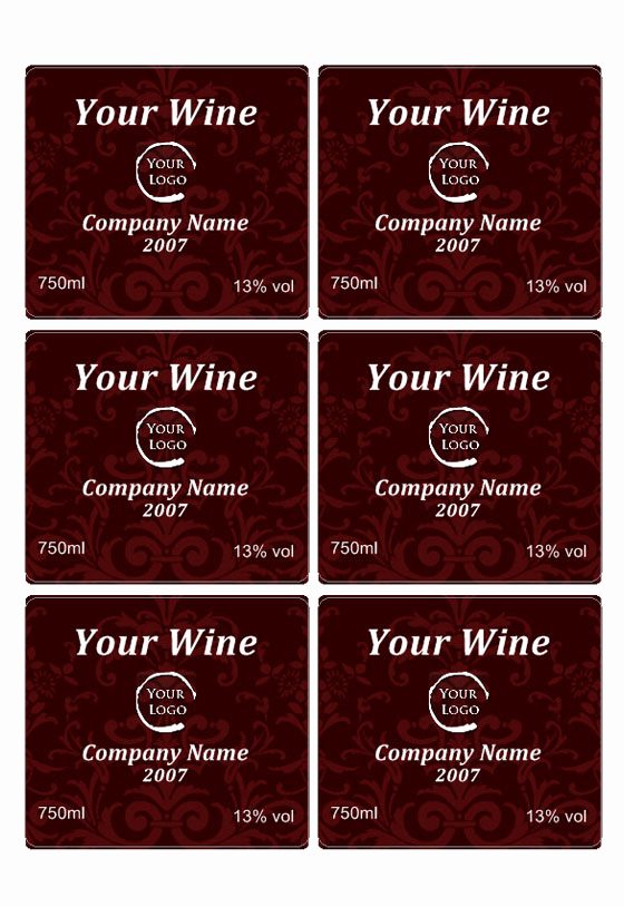 Free Printable Wine Labels Elegant Wine Label Template