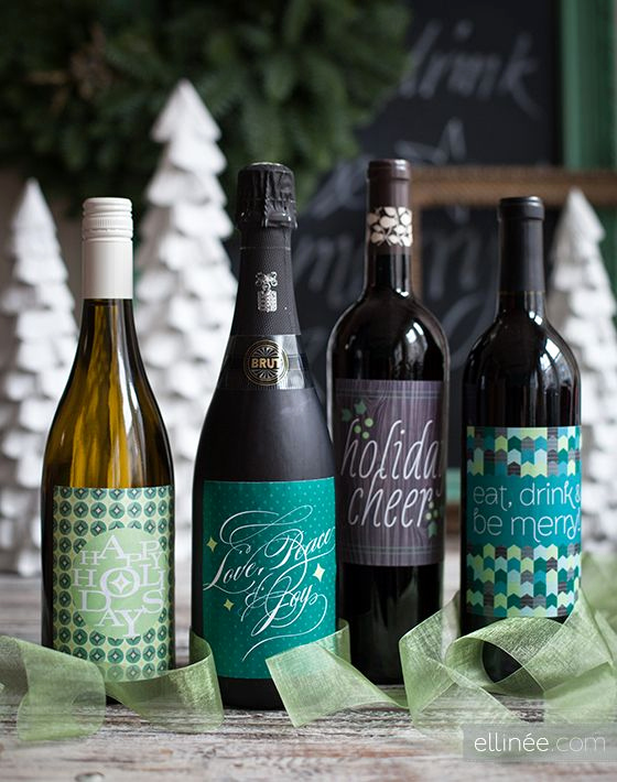 Free Printable Wine Labels Luxury Diy Holiday Bottle Labels Free Pdf Printable