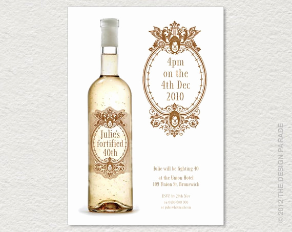 Free Printable Wine Labels Unique Printable Wine Label Invitation for 30th 40th 50th Etc
