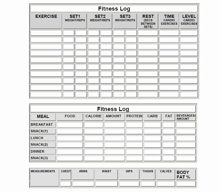 Free Printable Workout Log Sheets Beautiful Fitness Logs
