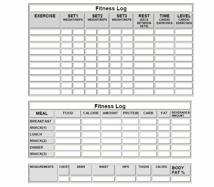 Free Printable Workout Log Sheets Beautiful Fitness Logs