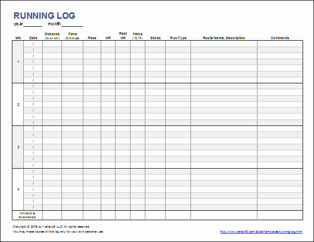 Free Printable Workout Log Sheets Best Of Free Printable Running Log or Walking Log Template for Excel