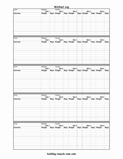 Free Printable Workout Log Sheets Best Of Free Printable Workout Log Using This Worksheet for