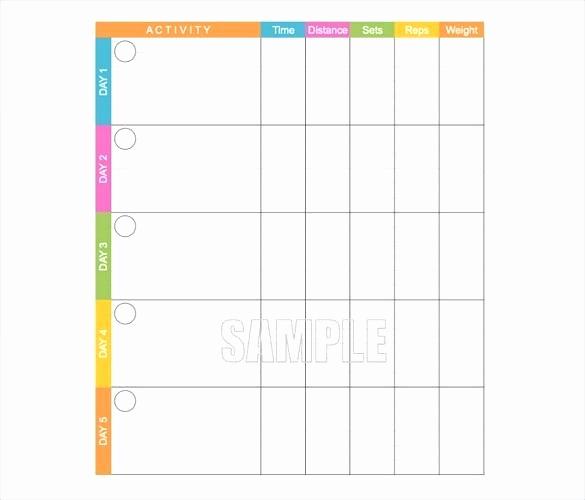 Free Printable Workout Log Sheets Lovely Workout Template Printable Blank Pdf Free Download