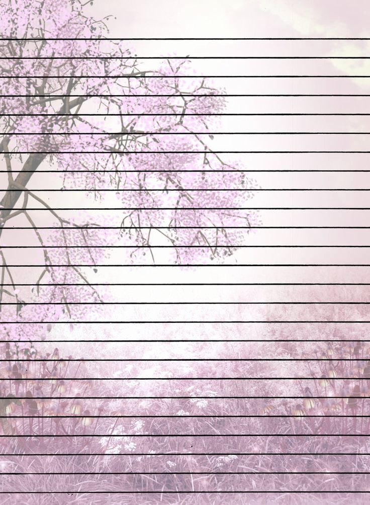 Free Printable Writing Paper Best Of Tree with Flowers Lined Printable Stationary
