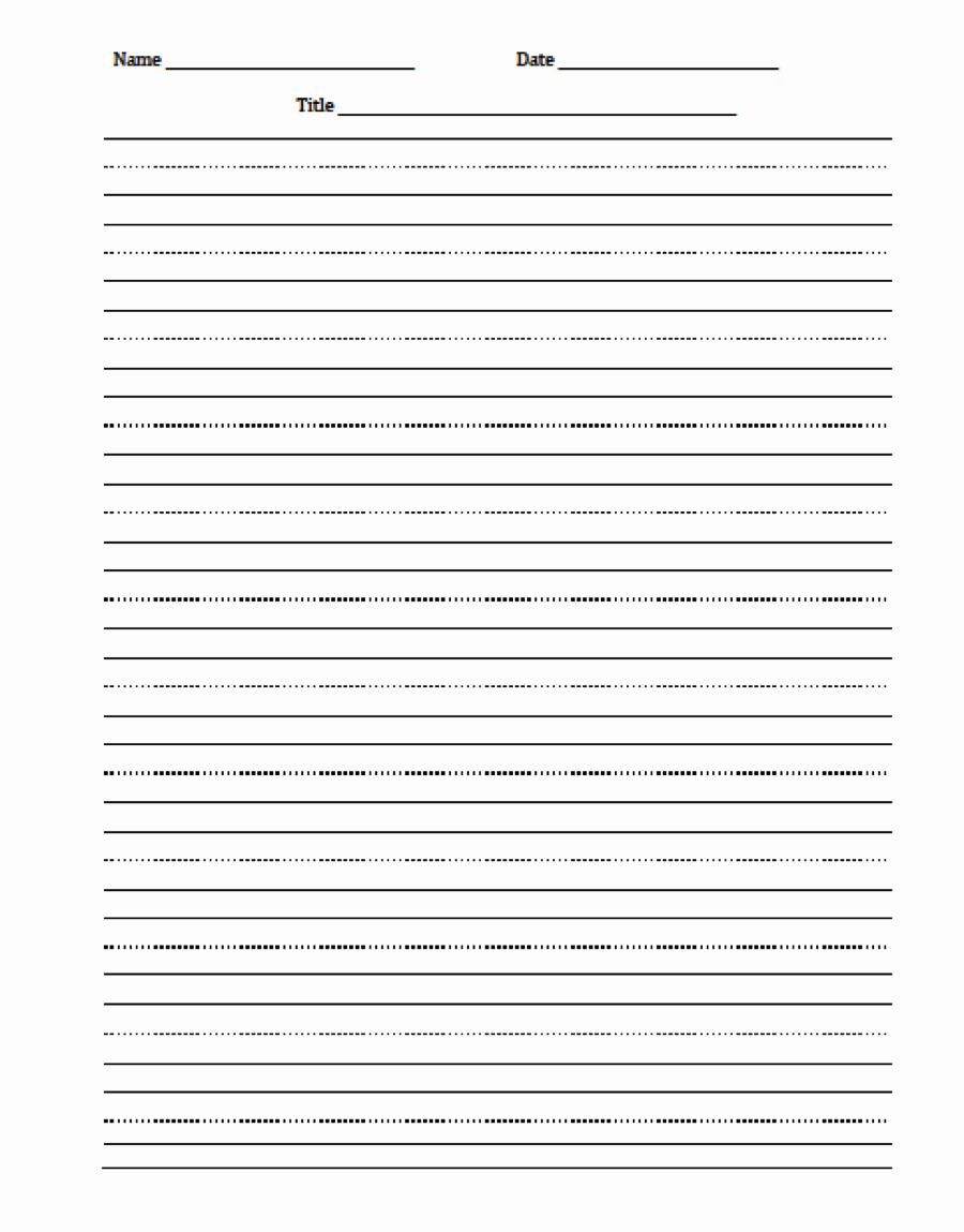 Free Printable Writing Paper Best Of Writing Paper for Second Grade Free Printable Printable