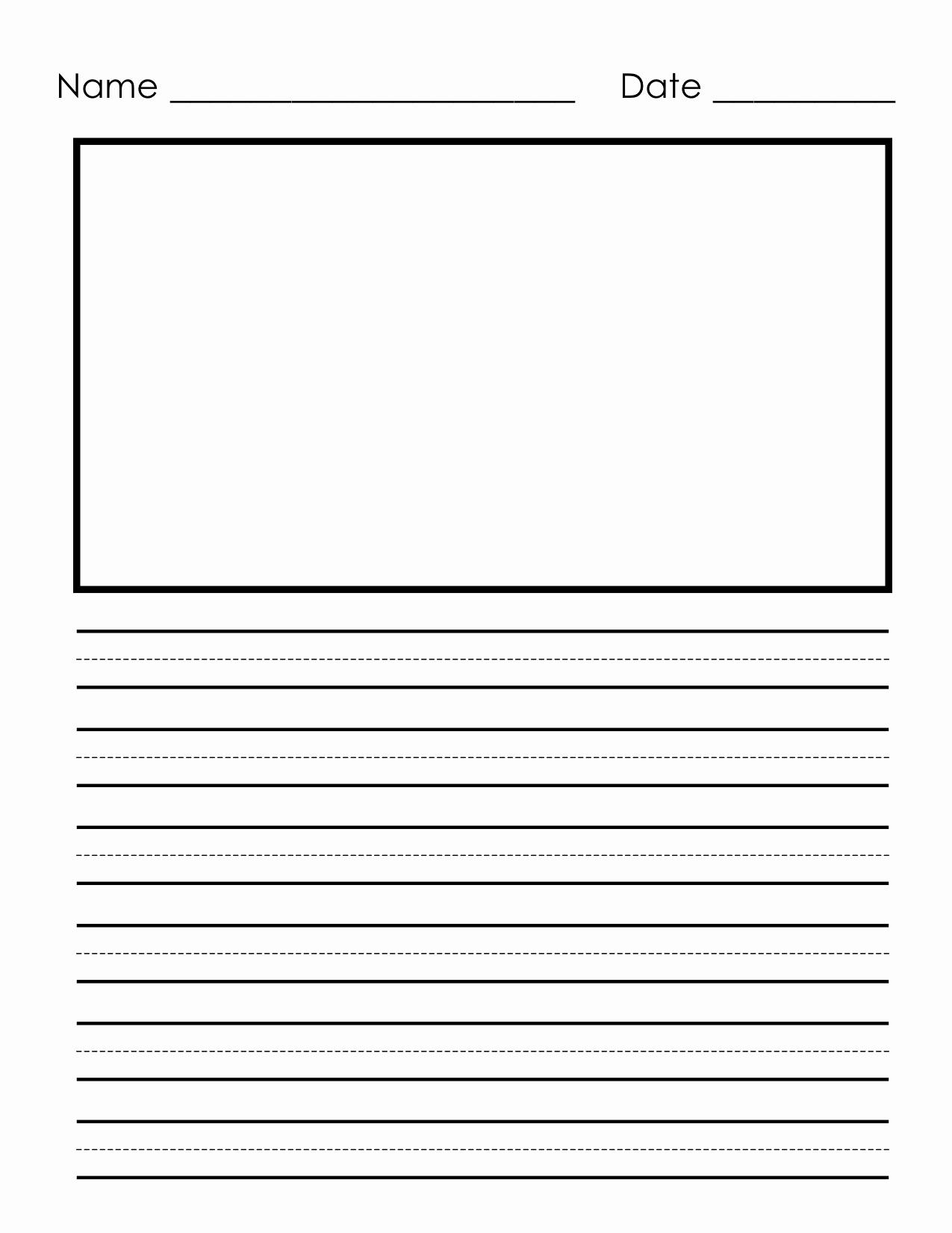Free Printable Writing Paper Inspirational Writing Paper for Second Grade Free Printable Penmanship