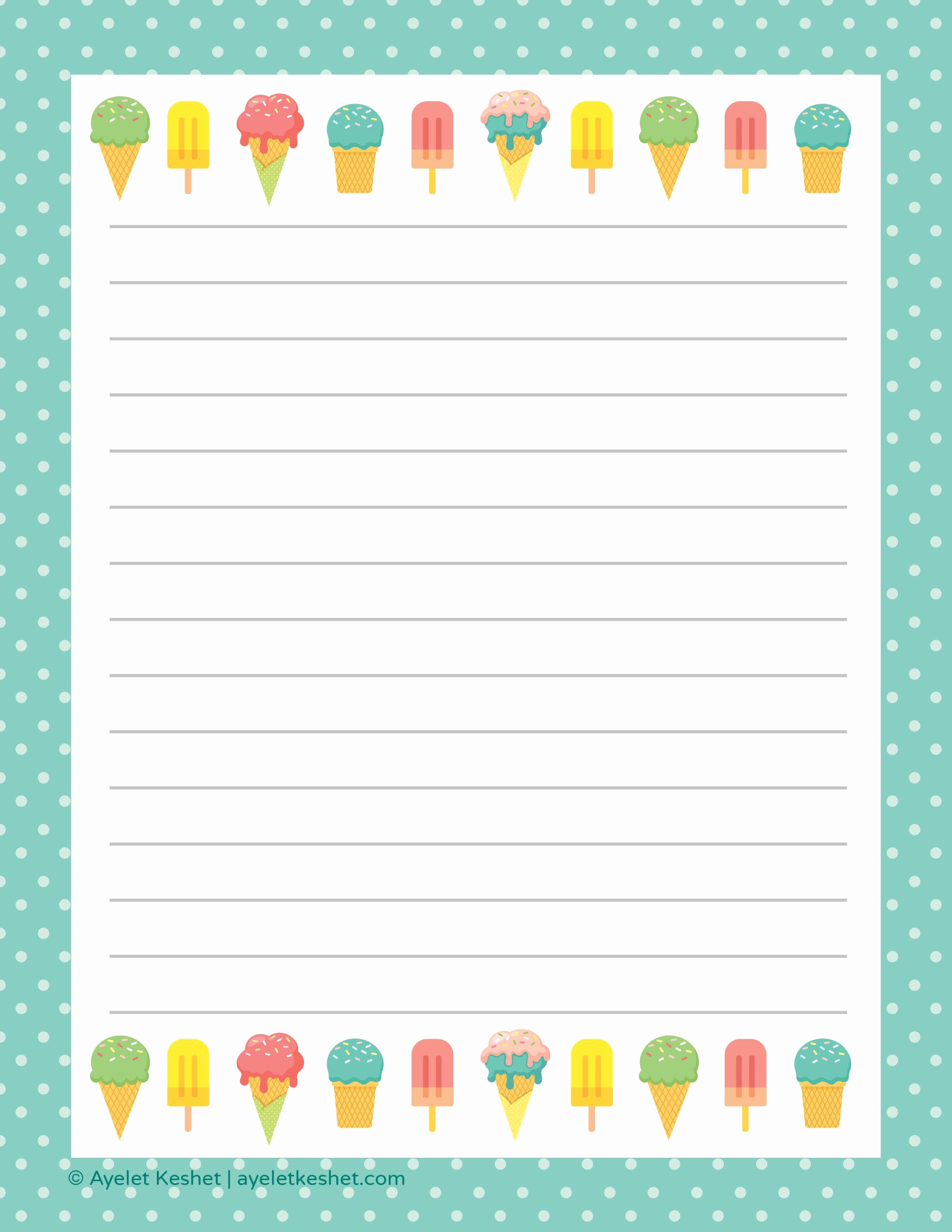 Free Printable Writing Paper Luxury Free Printable Letter Paper Printables to Go