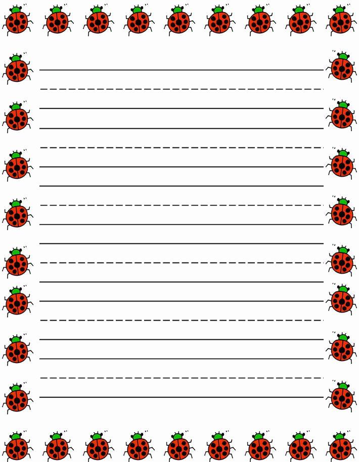 Free Printable Writing Paper Luxury Ladybugs Border Free Printable Kids Stationery Free