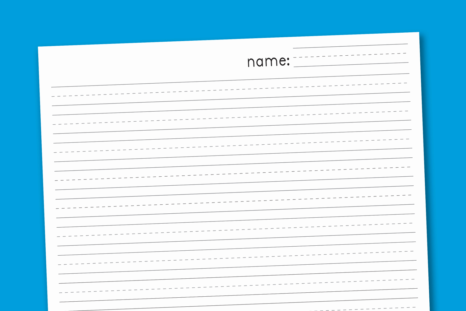 Free Printable Writing Paper Unique Primary Handwriting Paper Paging Supermom