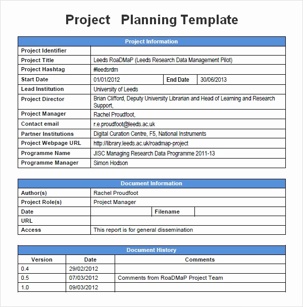 Free Project Plan Template Inspirational Project Management Templates