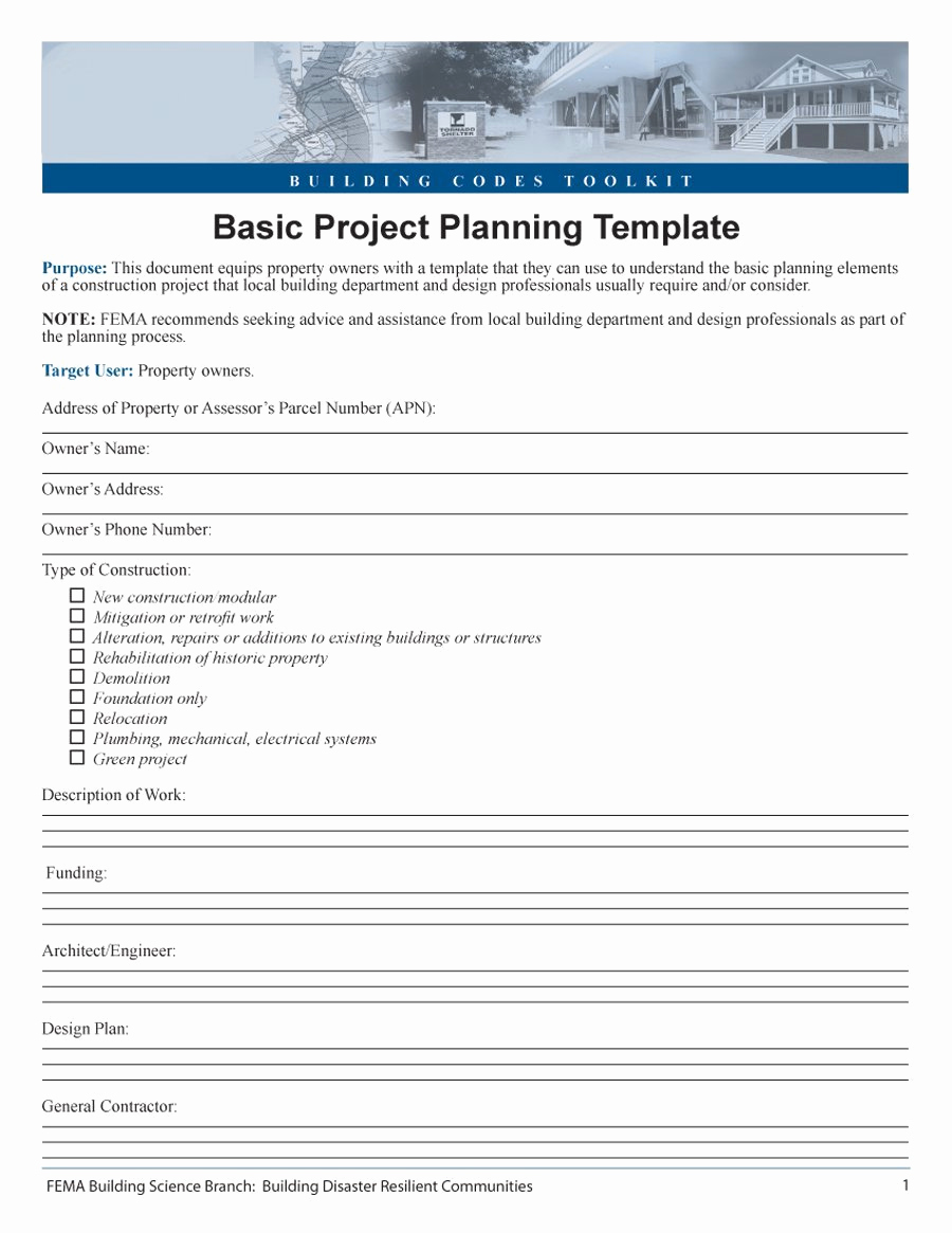 Free Project Plan Template Lovely 48 Professional Project Plan Templates [excel Word Pdf