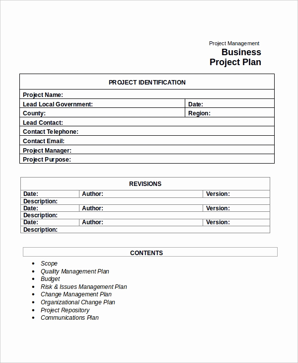 Free Project Plan Template Luxury Project Plan Template 20 Free Word Pdf Document