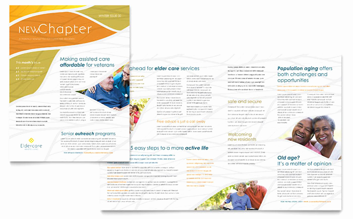 Free Publisher Newsletter Templates Fresh assisted Living Newsletter Template Design