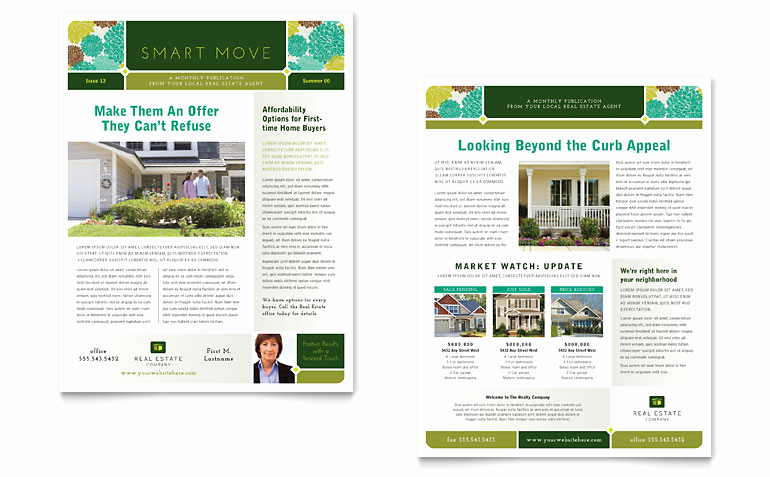 Free Publisher Newsletter Templates Fresh Real Estate Newsletter Template Word & Publisher