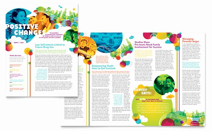 Free Publisher Newsletter Templates Inspirational Youth Program Newsletter Template Design