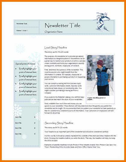 Free Publisher Newsletter Templates Luxury New Microsoft Publisher Newsletter Templates Free