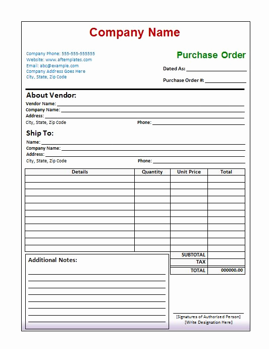 Free Purchase order Template Luxury 39 Free Purchase order Templates In Word & Excel Free