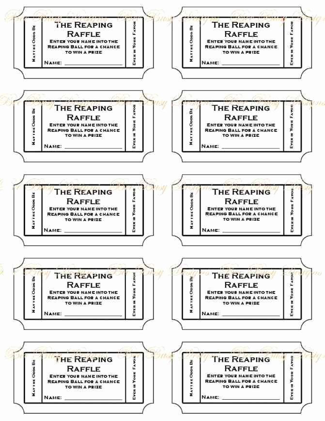 Free Raffle Ticket Template Best Of Free Printable Raffle Ticket Template Printable Numbered