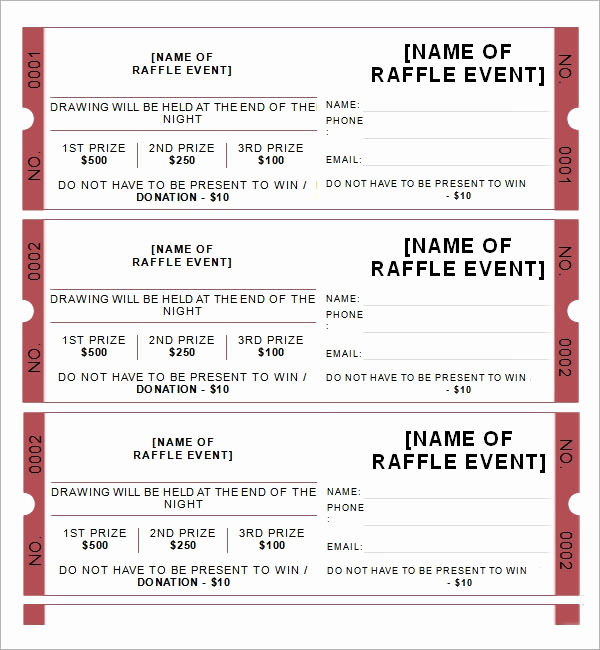 Free Raffle Ticket Template Lovely 31 Raffle Ticket Templates Pdf Psd Word Indesign