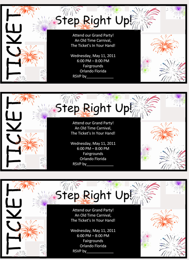 Free Raffle Ticket Template Unique 45 Raffle Ticket Templates