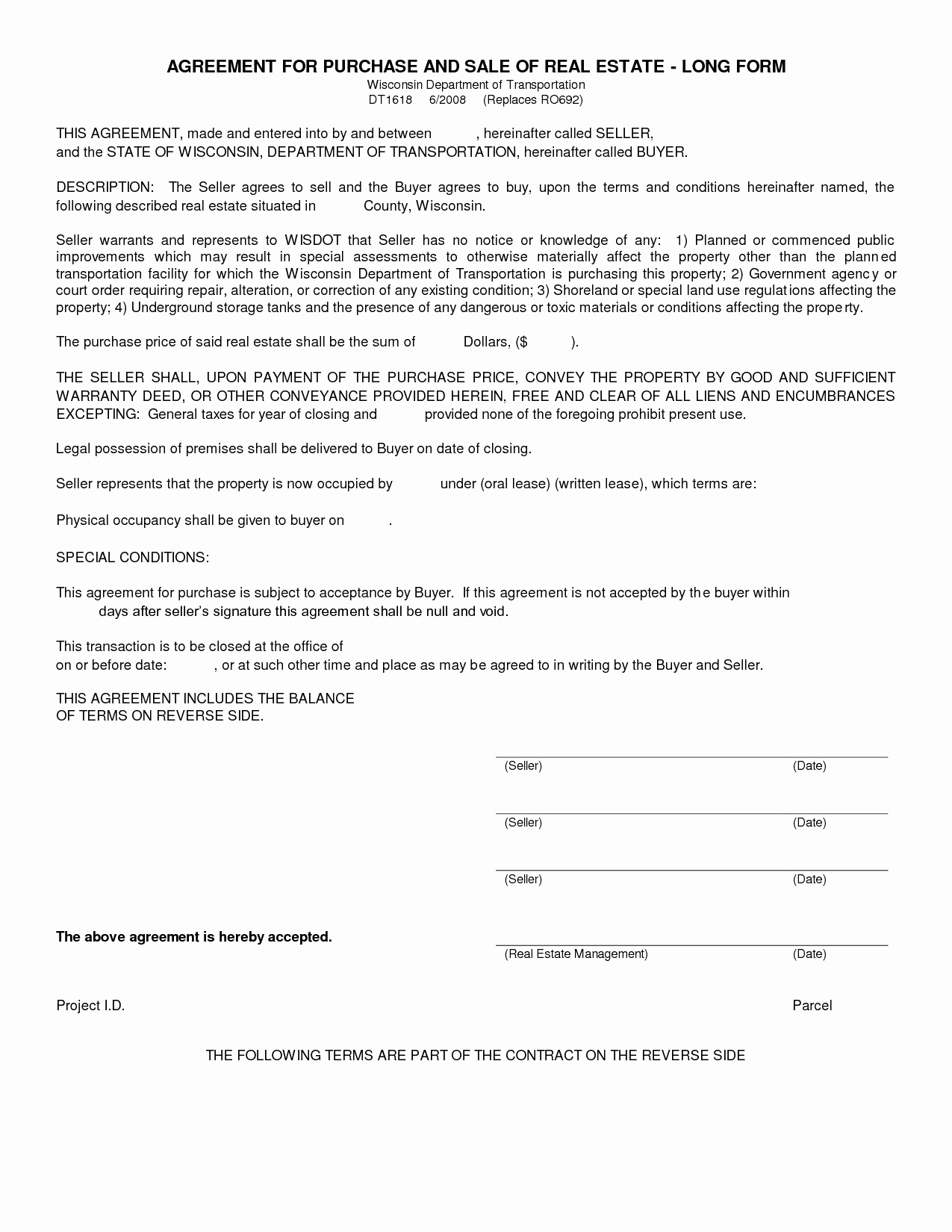 Free Real Estate Contract Best Of Free Blank Purchase Agreement form Images Agreement to
