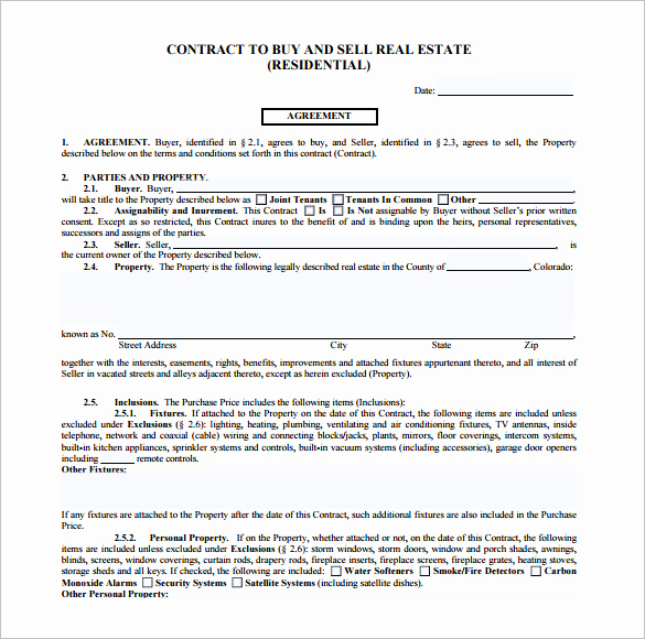 Free Real Estate Contract Fresh 14 Real Estate Contract Templates Word Pages Docs